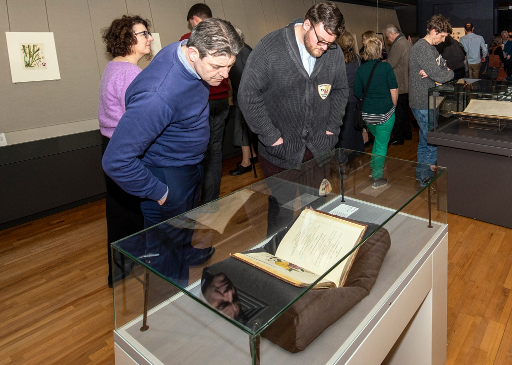 Visitors at the opening of the Drawn from Nature exhibition in the National Gallery of Ireland